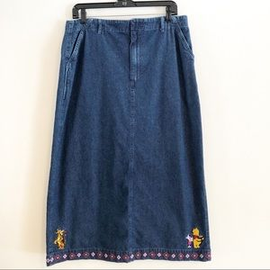 Disney Tigger and Pooh denim maxi skirt.